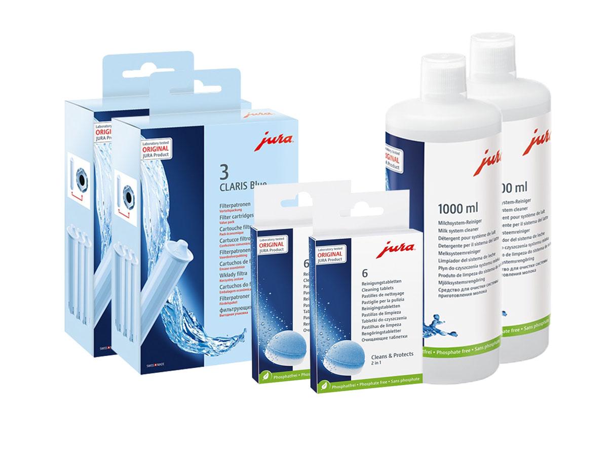 JURA Reinigungsset Blue + Milch