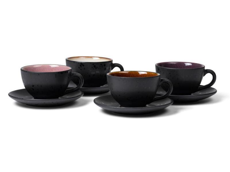 Kaffeetassen 4er Set coloured/black