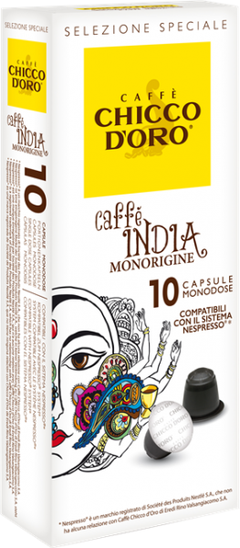CHICCO D'ORO | Caffe India | 10 Kapseln