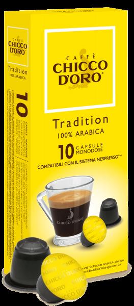 CHICCO D'ORO | Tradition 100% Arabica | 10 Kapseln