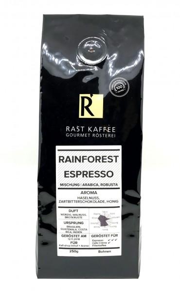 Rast Kaffee Rainforest Espresso 250g